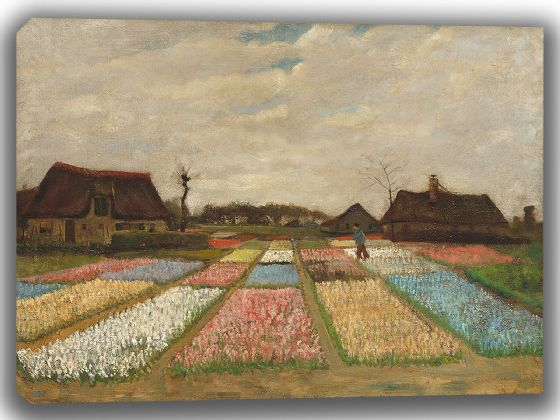 Van Gogh, Vincent: Flower Beds in Holland. Fine Art Canvas. Sizes: A4/A3/A2/A1 (003558)